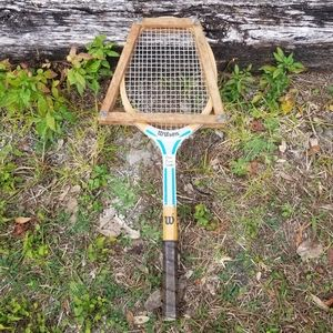 Vtg Wilson Chris Evert Champ Tennis Racket